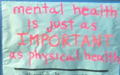 A Mental Health awareness poster made by the students in Leadership. Mental Health Awareness week was created to promote positive relationships with the self and others.