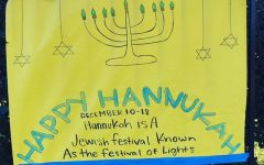 One of the holiday posters designed by our Spirit and Activities team.
