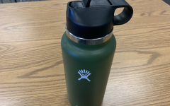 A metal insulated bottle.