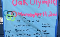 Poster for the Oak Olympics.